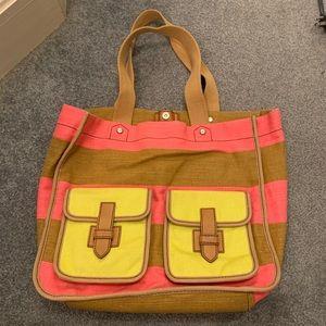 Fossil Shay Canvas Shopper Shoulder Bag